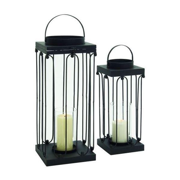Picture of Set 2 Metal Gls Candleholder