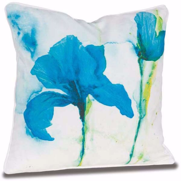Picture of Teal Iris 18x18 Pillow *P