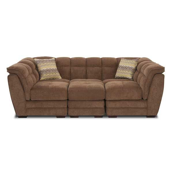 Brown 4 PC Sectional