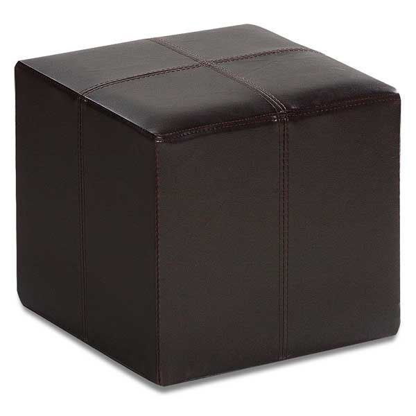 Picture of Rubic Brown Durahide Cube Ottoman
