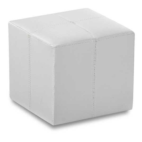 Terrific Rubic White Cube Ottoman 1B 315W Cambridge Home Afw Com Creativecarmelina Interior Chair Design Creativecarmelinacom