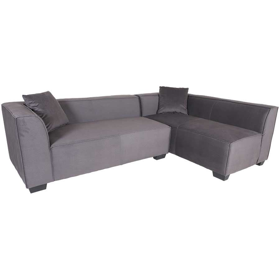 Zara 2pc Dark Gray Sofa Sectional