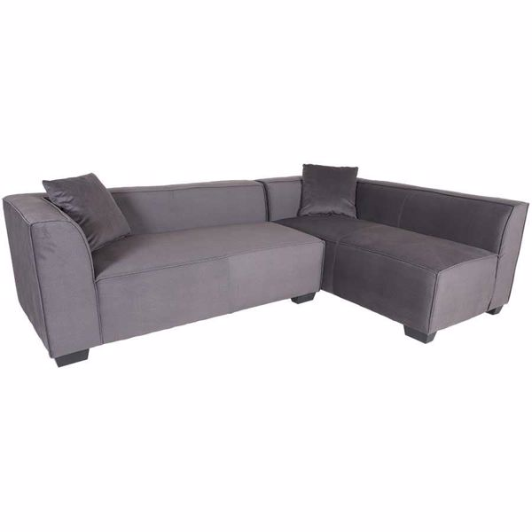 Picture of Zara 2pc Dark Gray Sofa Sectional