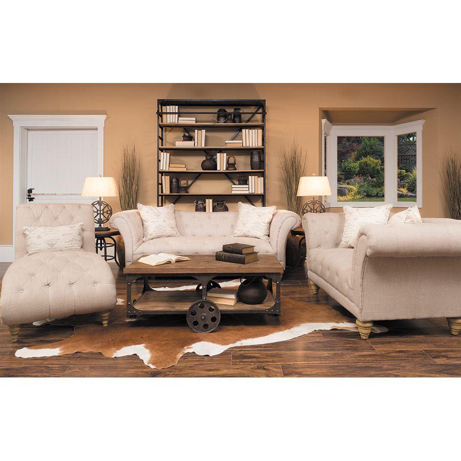 Picture of hutton natural linen sofa