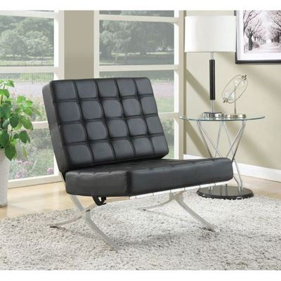 Picture of Accent Chair, Black/Chrome *D