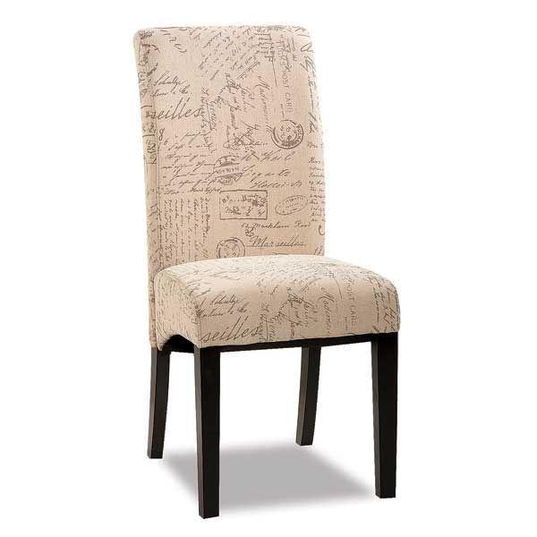 Parsons Chair Script Fabric