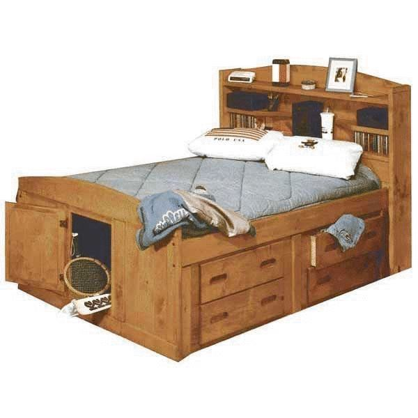 Picture of Bunkhouse Full Size Captains Bed