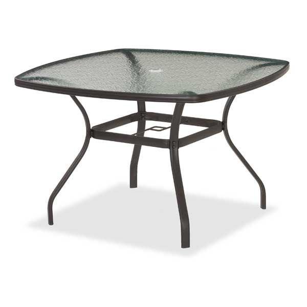 Bocara 44 Square Round Glass Table Boca 44 Afw Com