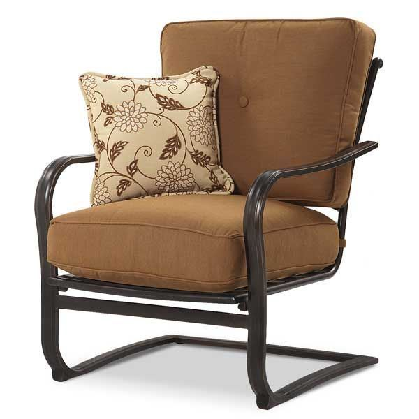 Agio Willowbrook Patio Furniture.Willowbrook Spring Chair With Cushion