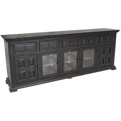 "Picture of Black Isabella 82"" TV Console"