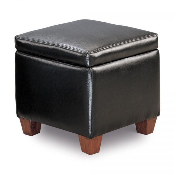 Picture of Black Ottoman *D