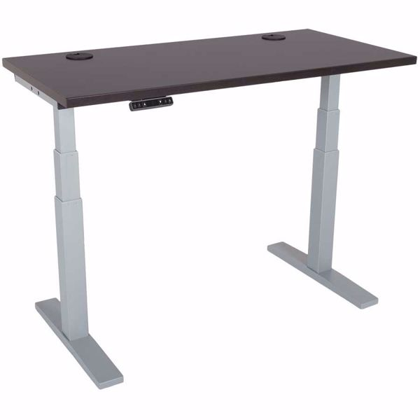 Picture of Power Height Adjustable 24x48 Mocha Top Table