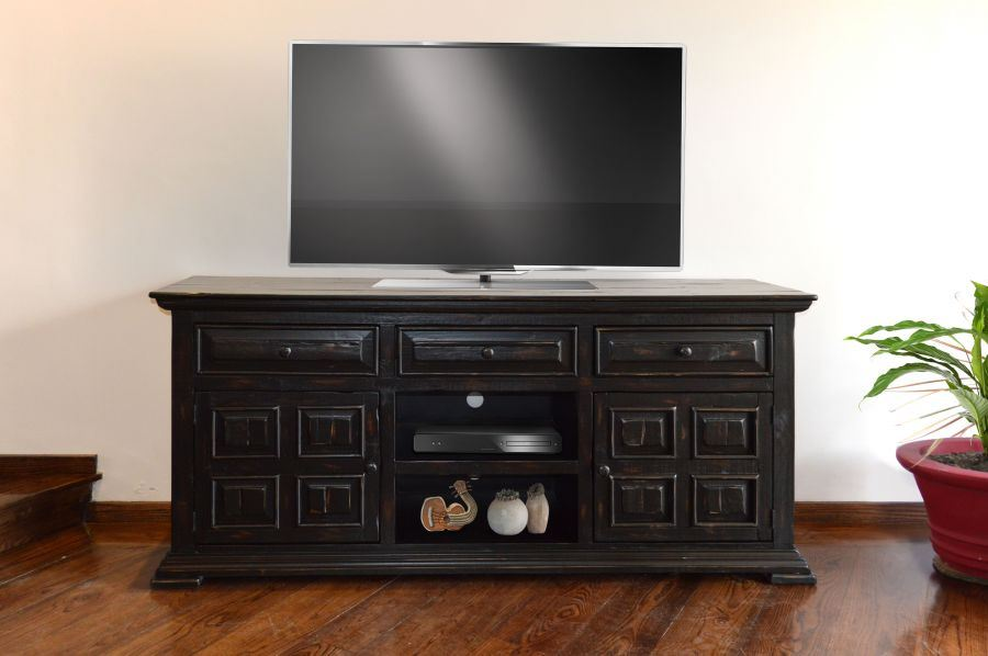 "Picture of Black Isabella 65"" TV Console"
