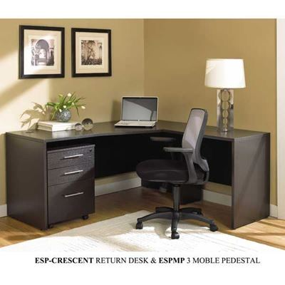 Picture of Espresso Crescent Return Desk