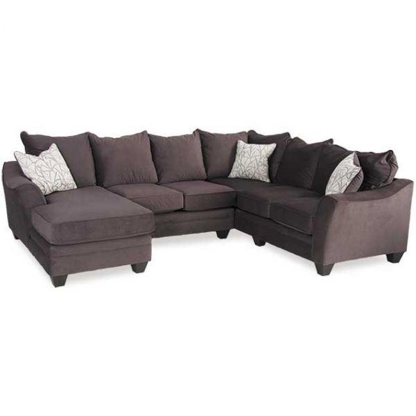 Picture of Flannel Seal 3 Piece Sectional with LAF Chaise