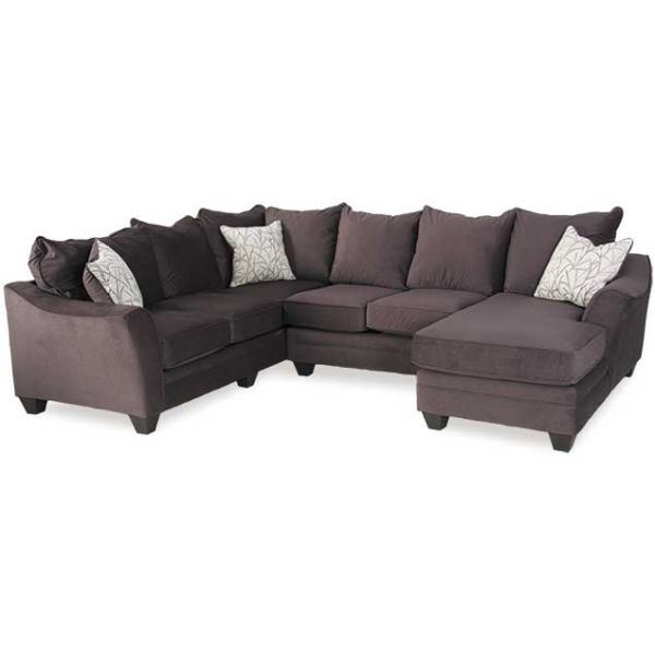 Picture of Flannel Seal 3 Piece Sectional with RAF Chaise