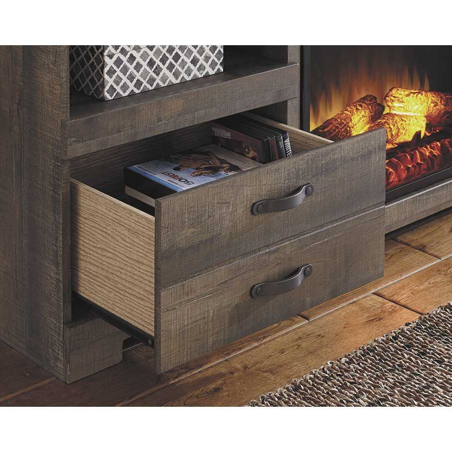 Trinell Console with Fireplace W446-SET | Ashley Furniture ...