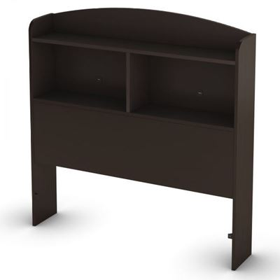 Picture of Logik Twin Bookcase Headboard, Chocolate *D