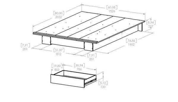 Picture of Holland Full/Queen Platform Bed *D