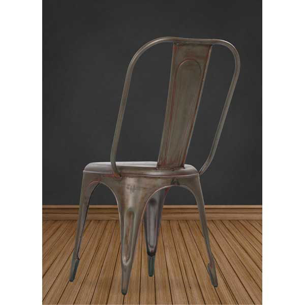 Picture of Rust Retro Cafe Side Chair