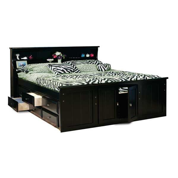 Picture of Laguna Queen Bookcase Bed with 1 Underbed Storage Unit