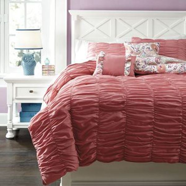 Picture of Crinkle Pleat Full Comforter Set *D