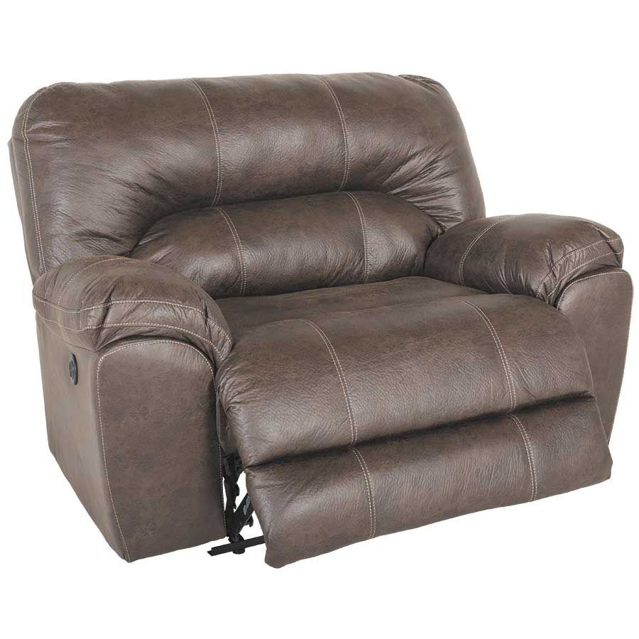 Picture of Stallion Saddle Brown Cuddler Power Recliner