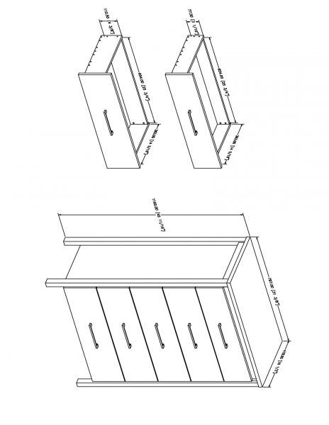 Picture of Gravity 5-Drawer Chest *D