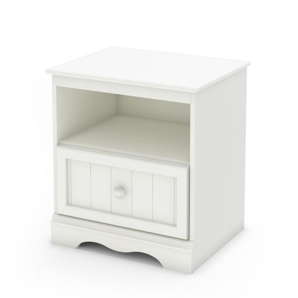 Picture of Savannah 1-Drawer White Night Stand *D