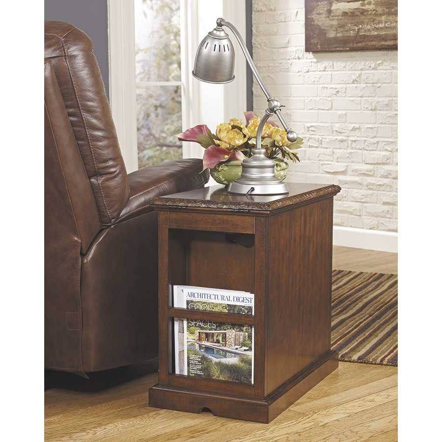 Picture of Laflorn Dark Brown Power Chairside End Table
