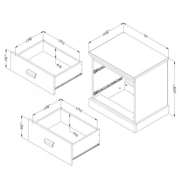 Picture of Gloria 2-Drawer Night Stand *D