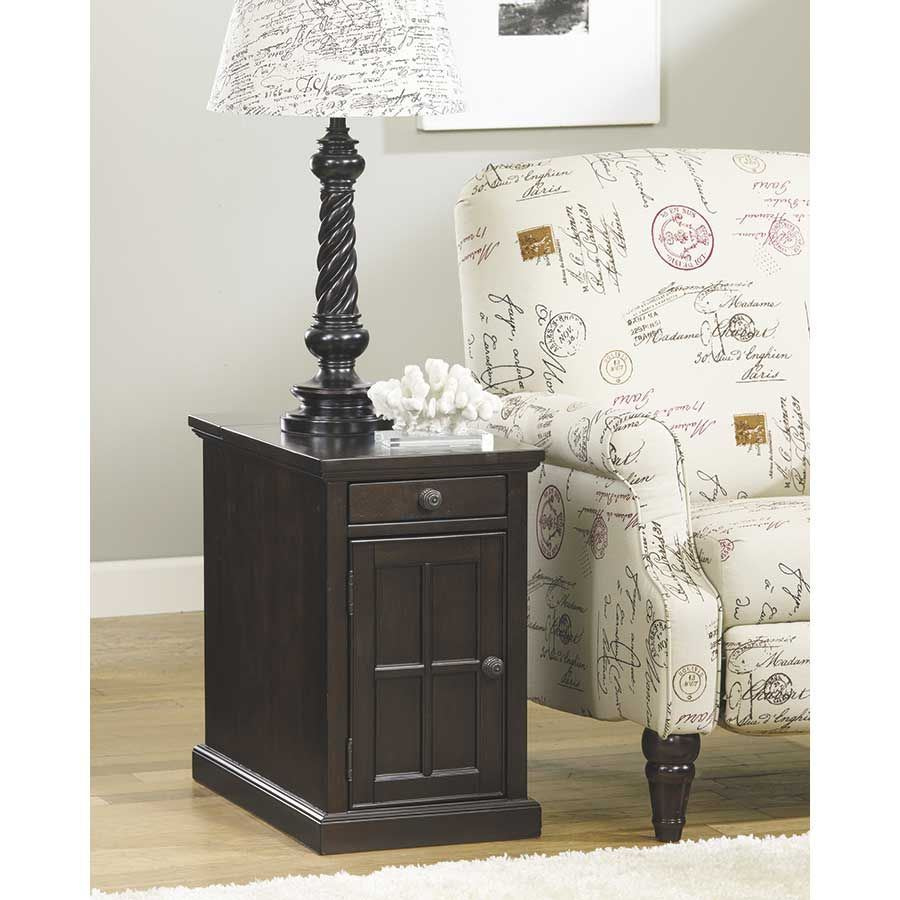 Picture of Laflorn Brown-Black Power Chairside End Table