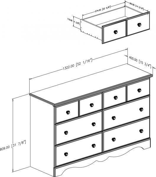 Picture of Summer Breeze 6-Drawer Dresser *D