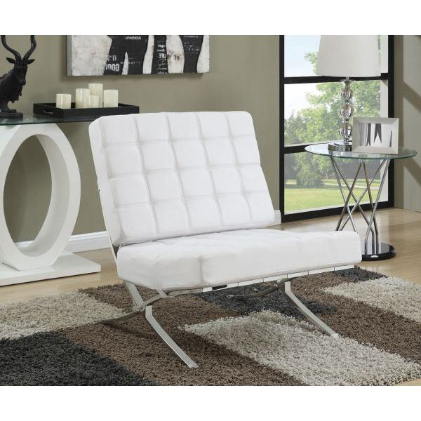 Picture of Accent Chair, White/Chrome *D