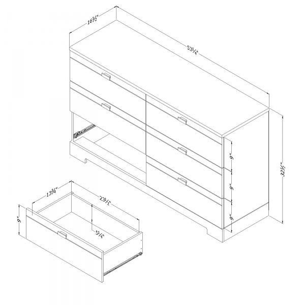 Picture of Reevo 6-Drawer Double Dresser *D