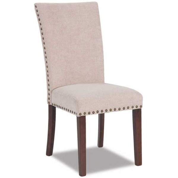 Picture of Cream Chenille Parsons Chair