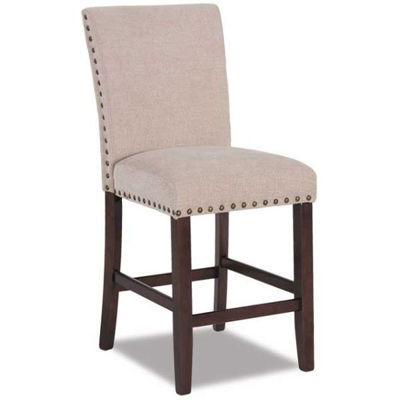 """Picture of Cream Chenille 24"""" Parsons Barstool"""