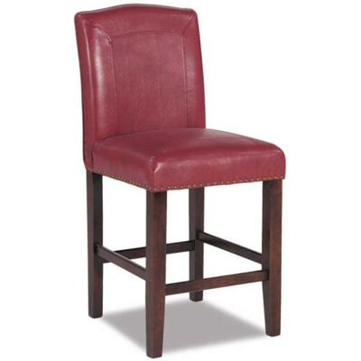 "Picture of Red 24"" Parsons Barstool"