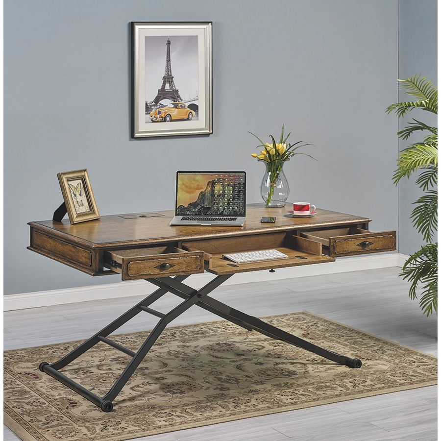 Sensational 60 Sit And Stand Desk Wood Top Interior Design Ideas Clesiryabchikinfo