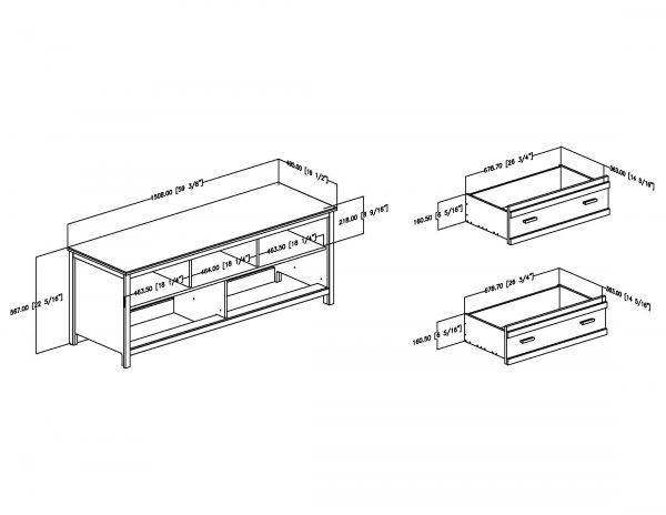 Picture of Exhibit TV Stand *D