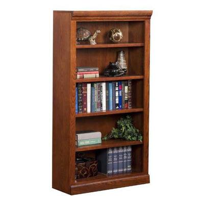 Picture of Burnish Oak Bookcase, 4 Shelf