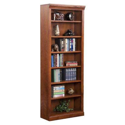 Picture of Burnish Oak Bookcase, 6 Shelf