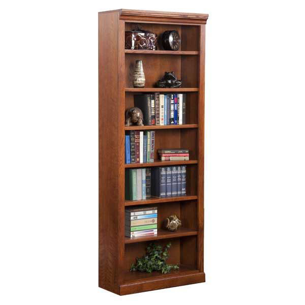 Burnish Oak Bookcase 6 Shelf Jcb3284 Kurio King Afw Com