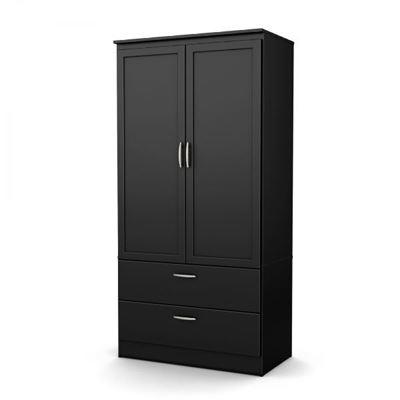 Picture of Black Acapella Wardrobe Armoire *D