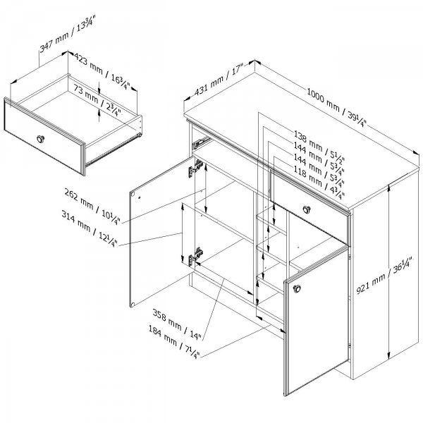 Center Console Dimension
