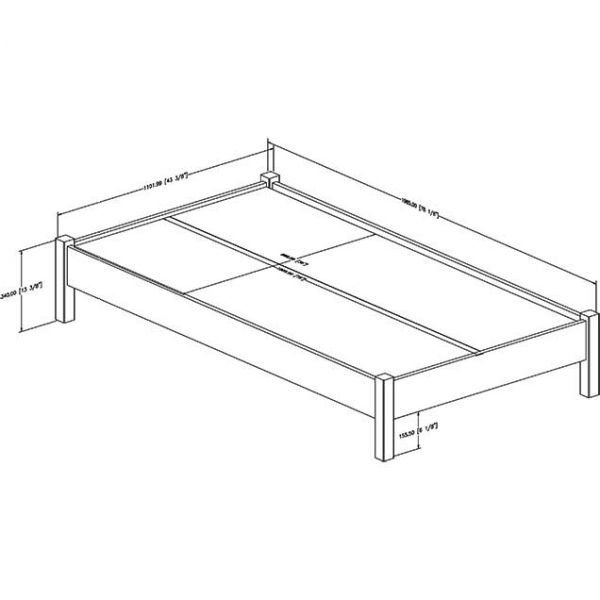 Picture of Step One Twin Platform Bed *D