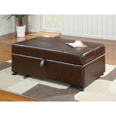 Picture of Brown Ottoman W/Sleeper *D