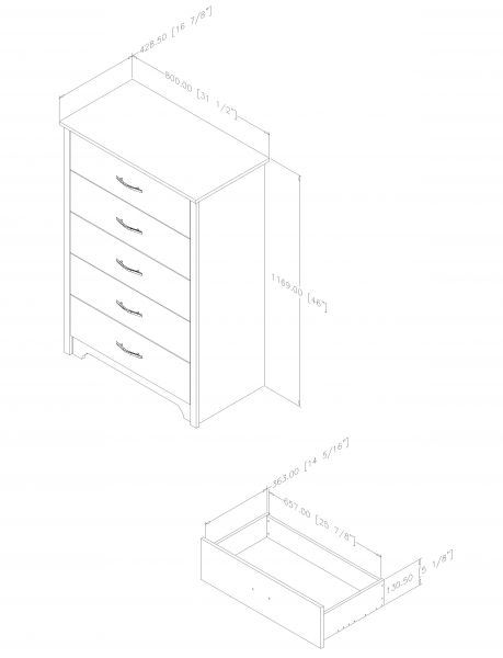 Picture of Fusion 5-Drawer Chest *D
