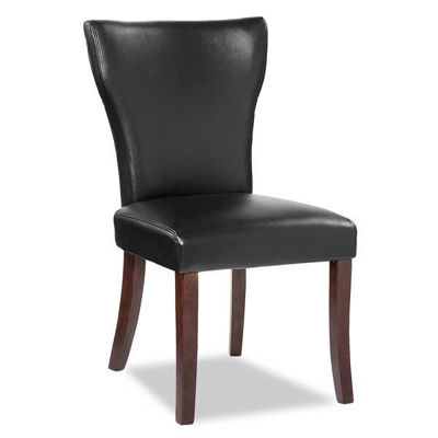 Picture of Wing Parsons Chair Black Bonded Leather