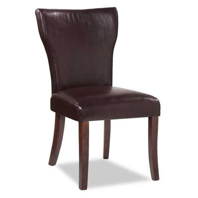 Picture of Wing Parsons Chair - Chocolate Bonded Leather